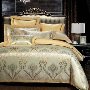Duvet Cover Cotton Bed Sheet Queen King Size 4pcs Bedding Set Pillow Shams