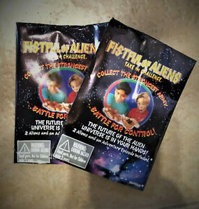 fistful of aliens booster pack lot of 2 MIP