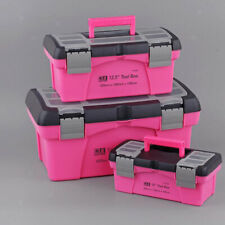 2 X Multifunktionale Aufbewahrungskoffer Toolbox Aufbewahrungskoffer Pink Box
