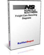 Norfolk Southern Freight Car Stenciling Diagrams - PDF on CD - RailfanDepot