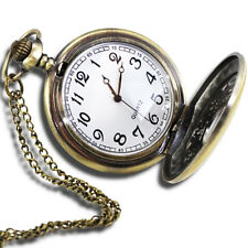 "VintageStyle Antique Pocket Watch with 31""Chain in Antique Bronze Gold Finish LW"