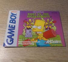 Nintendo Gameboy (GB)/ Bart vs. The Juggernauts -Anleitung/Instructions /dt. PAL