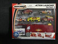 Matchbox 1:64 Scale 2001 Hero City Action Launcher FIRE TRUCK + 5 Vehicles