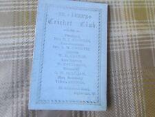 St Lukes Cricket Club London Season 1882 Original Fixture List