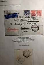 1937 The Hague Netherlands Airmail Cover To Batavia Dutch East Indies