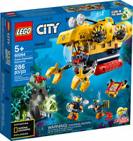 60264 LEGO City Ocean Exploration Submarine Playset 286 Pieces Age 5 Years+