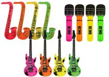 Inflatable Music Instruments Guitar Microphone Saxophone Neon Picture Frame LOT