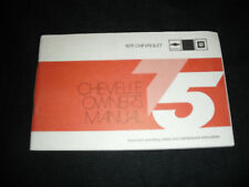 1975 Chevy Chevrolet Chevelle Owner Owner's Manual * Vintage * GM American Car