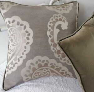 "Emperor Paisley cushion cover laura Ashley 16"" (piped) & Back santi fabric"