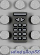 LEGO - 1x2 TV Remote Control Tile Dark Bluish Gray - TV Utensil Minifigure City