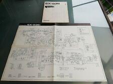 PIONEER STEREO RECEIVER SX-535 SCHEMATIC DIAGRAM+ OPERAING INSTRUCTION IN ORIGIN