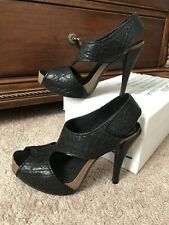 Pedro Garcia Black Toscana Patty Leather Heels! 38. In Box