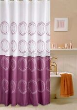 Purple Abstract Circle Print Picture Bathroom Fabric Shower Curtain Es819 K
