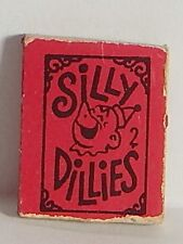 Vintage 1970 Gumball Vending Prize Silly Dillies No. 2 Mini Book Joke Riddles