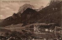 Hintersee bei Berchtesgaden Bayern Ansichtskarte ~1910 Totale mit Gasthof Post