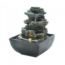10.6in Tabletop Fountain Indoor Water Fountain with LED Light for Table Top Desk