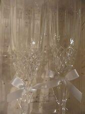 Toasting glasses  - Lillian Rose - cut glass ribbon accent