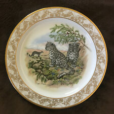 """""""Snow Leopards"""" collector plate- Lenox nature's nursery, baby animals"""