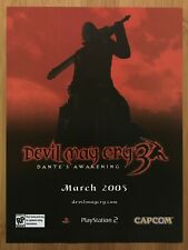 Devil May Cry 3 Playstation 2 PS2 Vintage Print Ad/Poster Official Dante Art DMC