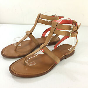 Banana Republic 7.5 Brown Leather Gladiator Sandal Ankle T Strap Corie Wow Cute