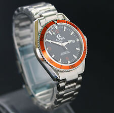 Alpha Planet Ocean Watch Orange Bezel Solid Stainless Steel Brand New !!!!