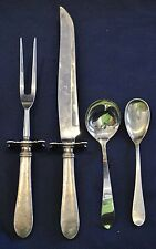 BETSY PATTERSON PLAIN STERLING SILVER FLATWARE BY STIEFF /  KIRK  4 SERVING PCS.