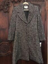 Michael Kors Tweed Herringbone Wool Coat Medium New NWT
