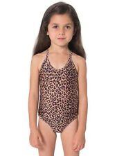 NEW American Apparel Cheetah Animal Print One Piece Swim Suit Kids Girls Toddler