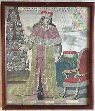 Altkolorierte KUPFERSTICH scheda radice albero sovrano per Roma 1790, incorniciato