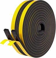 Fowong Weather Stripping 12mm(W) x 6mm(T) Gasket Seal Foam Tape for Door Window
