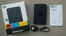WD Elements Portable 500 GB USB 2.0 External Hard Drive [WDBAAR5000ABK-00]