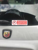 No Hairdressing Products Left In Vehicle Overnight Funny Car Sticker Decal
