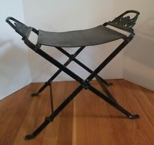 Vintage Art Deco Wrought Iron Bench Seat Metal Gothic Ladies Head Design