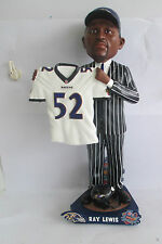 RAY LEWIS Baltimore Ravens 1996 Draft Day Bobblehead Away Jersey ONLY 100 MADE