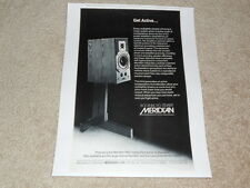 Meridian Active Speakers Ad, 1 pg, 1987, Article, Info