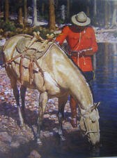 Canadian Mountie Horse at stream RMCP