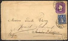 Chile 1897 uprated imprinted Wandercover to Belgium  F