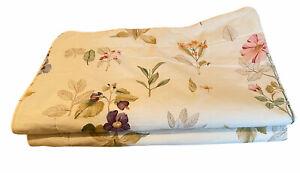 Set Of 2 Longaberger Grand Botanical Fields Floral Super King Size Pillow Shams