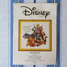 NIP DISNEY CATALOG Cross Stitch Kit POOH's CHRISTMAS NEW Winnie the Pooh Xmas