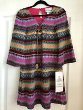 Rare Editions GIRLS dress Size 10 Tie Front Stitch Design NWT $64