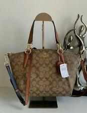 Coach Kelsey Small bag handbag shoulder SIGNATURE CANVAS khaki