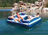 Intex Oasis Island 5 Person Inflatable Boat Floating Lounge Floating River Raft