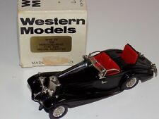 1/43 Western Models 1938 Mercedes Benz Type 540K Special Roadster Black W100