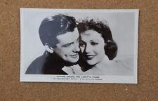 Richard Greene & Loretta Young Film Star  Real Photograph Postcard  fs 163 xc2