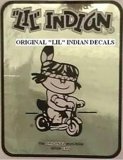 Vintage Minibike LIL Indian Number Plate Decal Mini Bike, Silver - Black/White