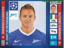 521 DOMENICO CRISCITO ITALY FC ZENIT STICKER CHAMPIONS LEAGUE 2014 PANINI