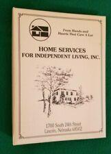 COOKBOOK, Home Services For Independent Living, Lincoln, Nebraska, Binder, 1996