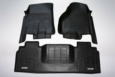 First & Second Row Floor Mats in Black for 2006 - 2008 Dodge Ram 1500 Mega Cab