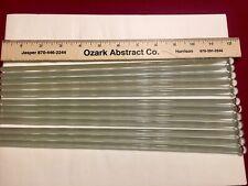 Lot Of 12 Glass Laboratory Rods Stir Sticks 12