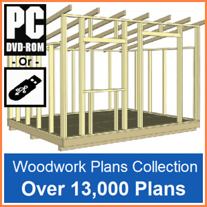 13000+ Woodwork & Joinery Plans/Guides Shed, Log Cabin, Barn, Toys, Gate, DIY UK
